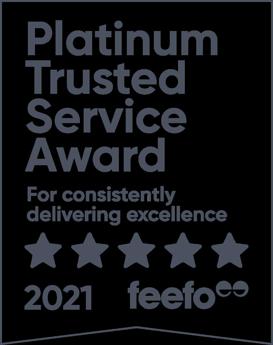 Feefo Gold Service 2021